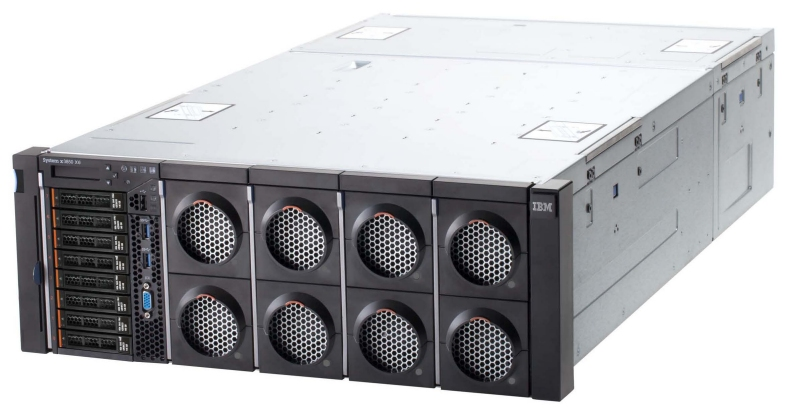 The new IBM System x3850 X6 four-socket server