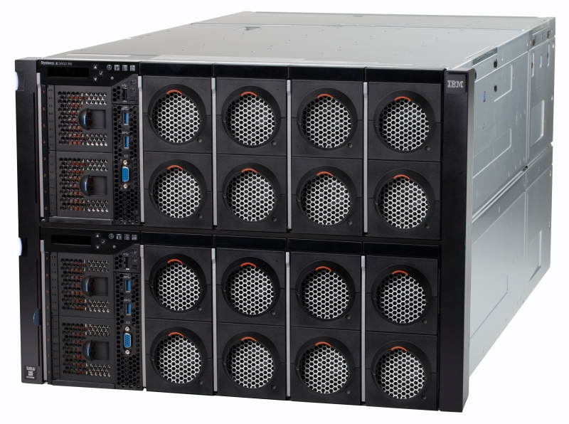 The new IBM System x3950 X6 eight-socket server